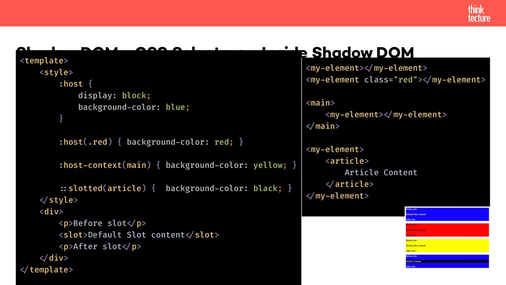 Shadow DOM - CSS Selectors - Inside Shadow DOM ...