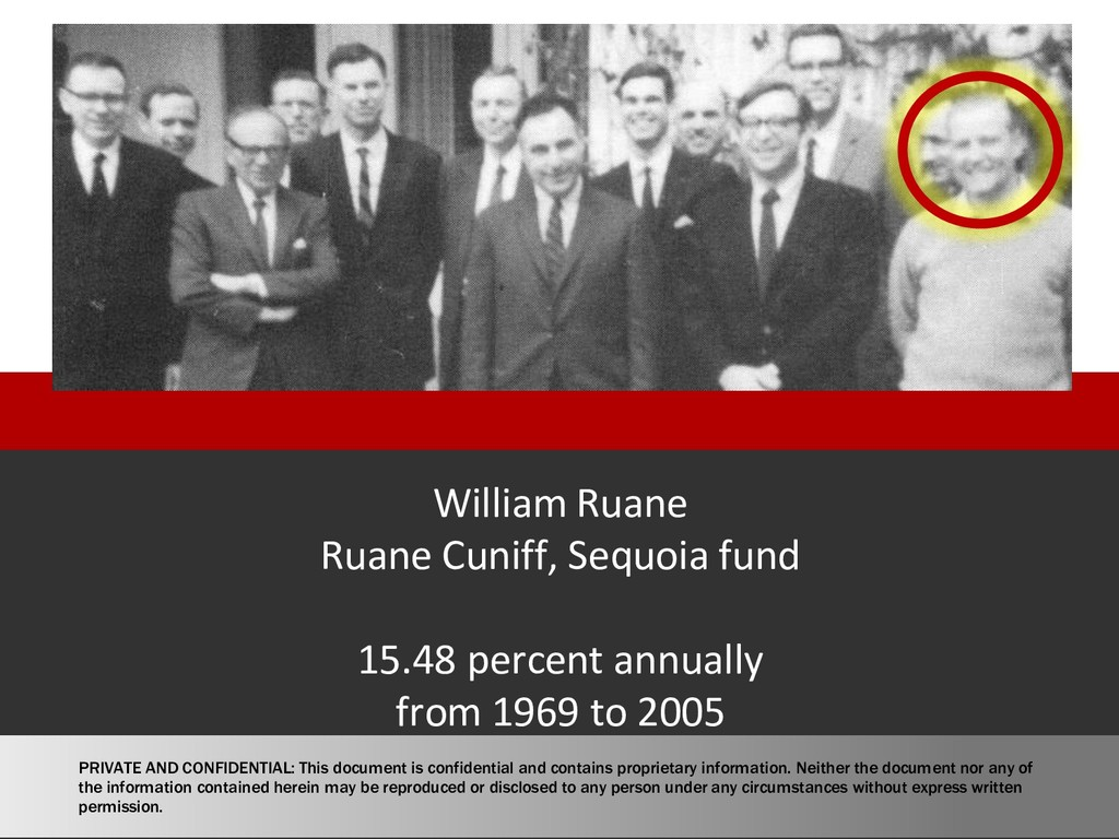 William Ruane Ruane Cuniff, Sequoia fund 15.48 ...