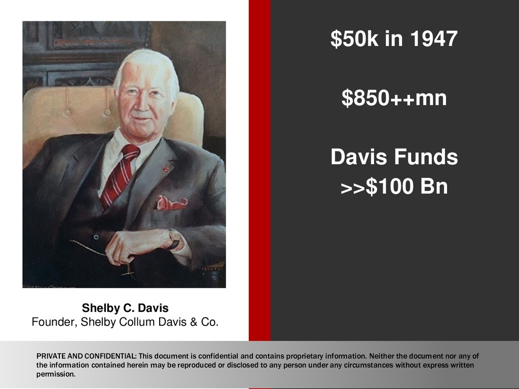 $50k in 1947 $850++mn Davis Funds >>$100 Bn She...