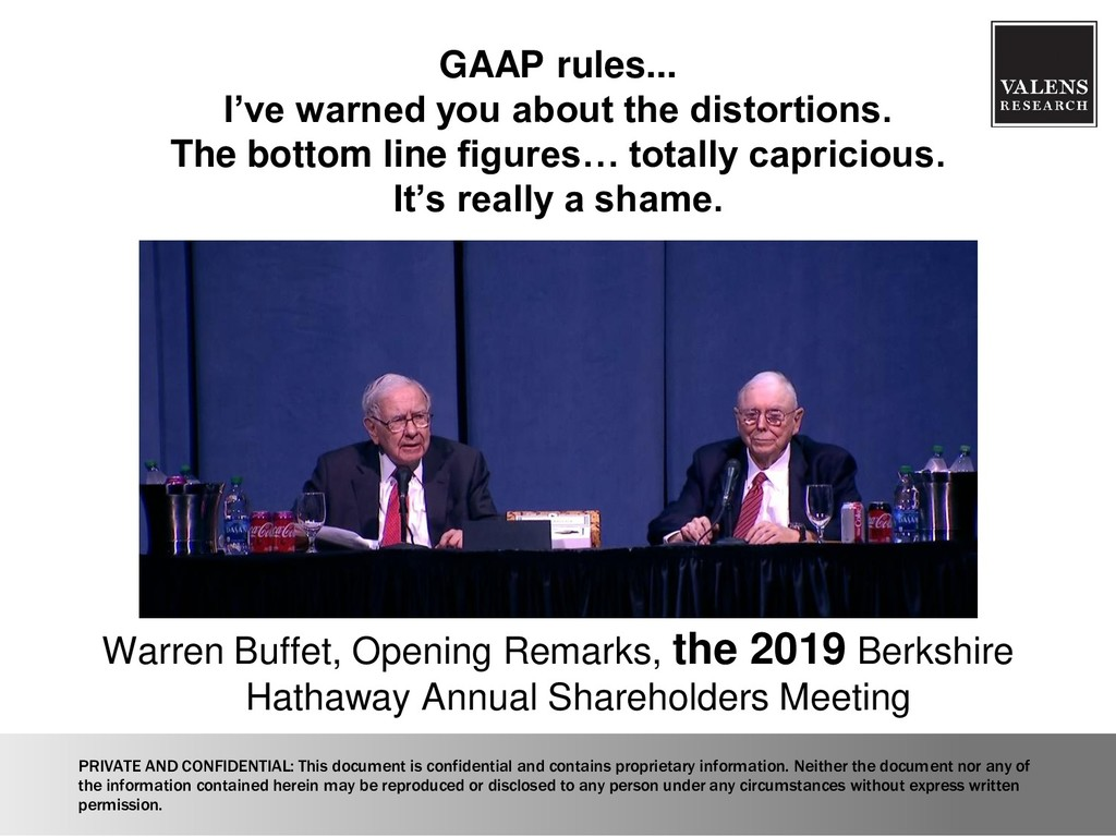 GAAP rules... I've warned you about the distort...