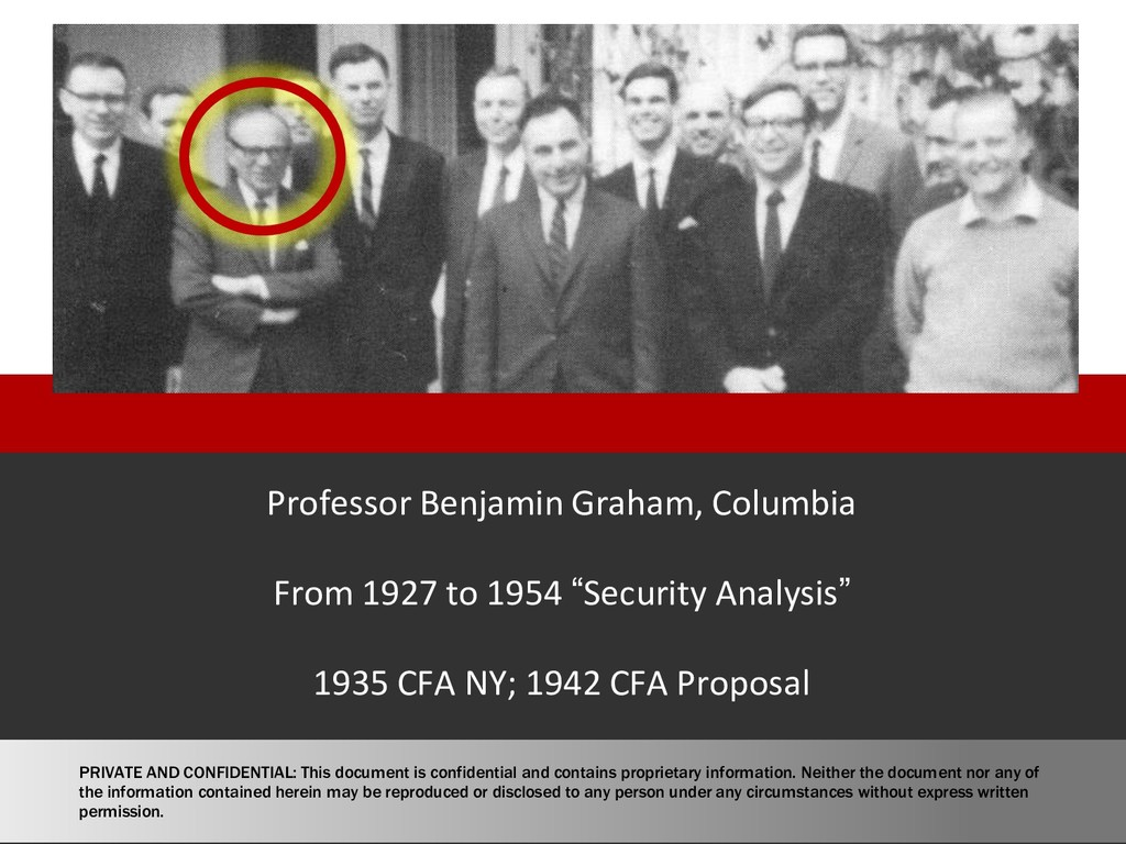 Professor Benjamin Graham, Columbia From 1927 t...