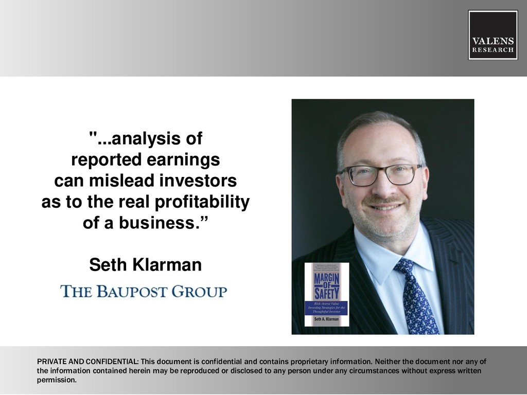 """...analysis of reported earnings can mislead i..."