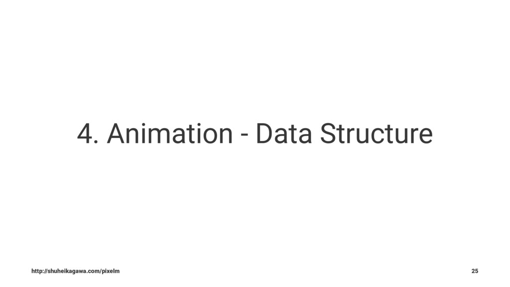 4. Animation - Data Structure http://shuheikaga...
