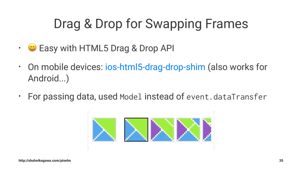 Drag & Drop for Swapping Frames • ! Easy with H...