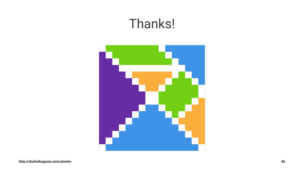 Thanks! http://shuheikagawa.com/pixelm 46