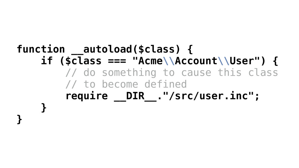 """function __autoload($class) { if ($class === """"A..."""