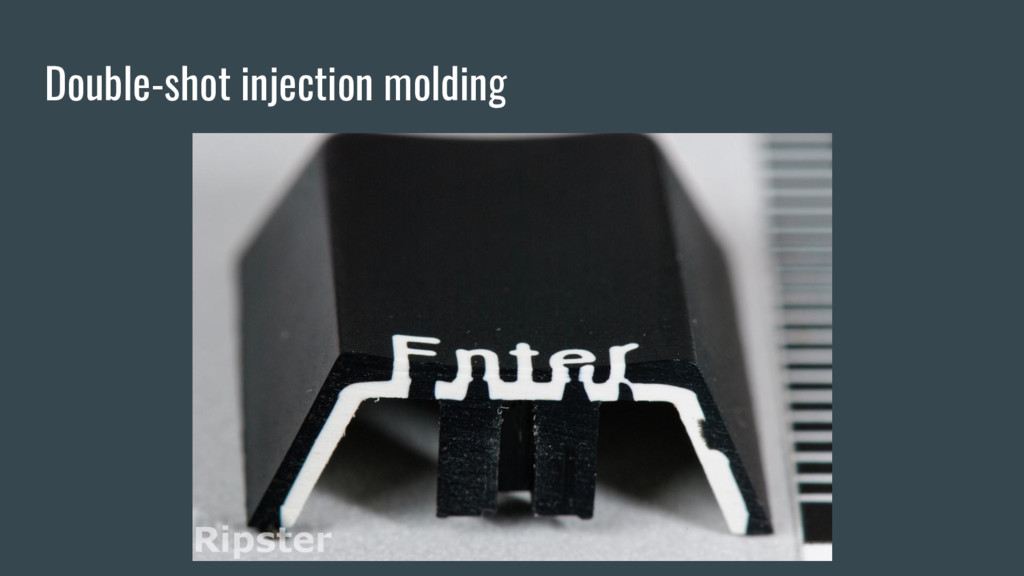 Double-shot injection molding