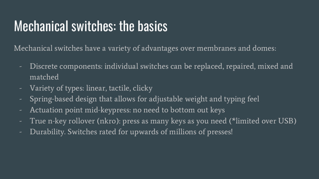 Mechanical switches: the basics Mechanical swit...