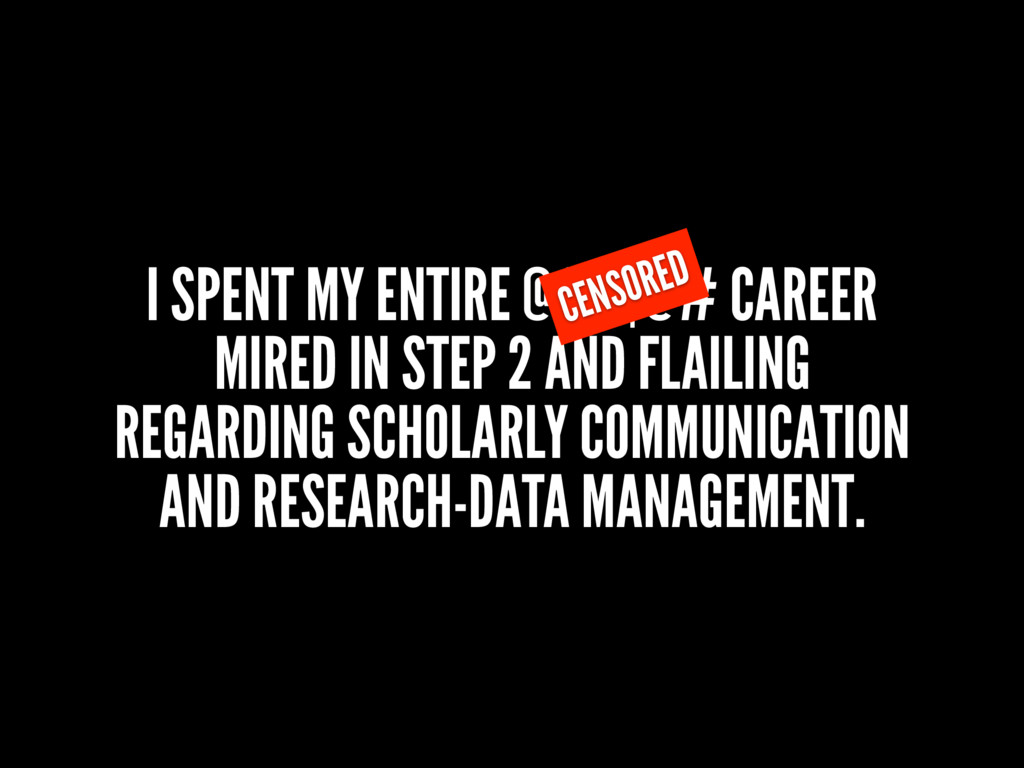 I SPENT MY ENTIRE @#$$@# CAREER MIRED IN STEP 2...