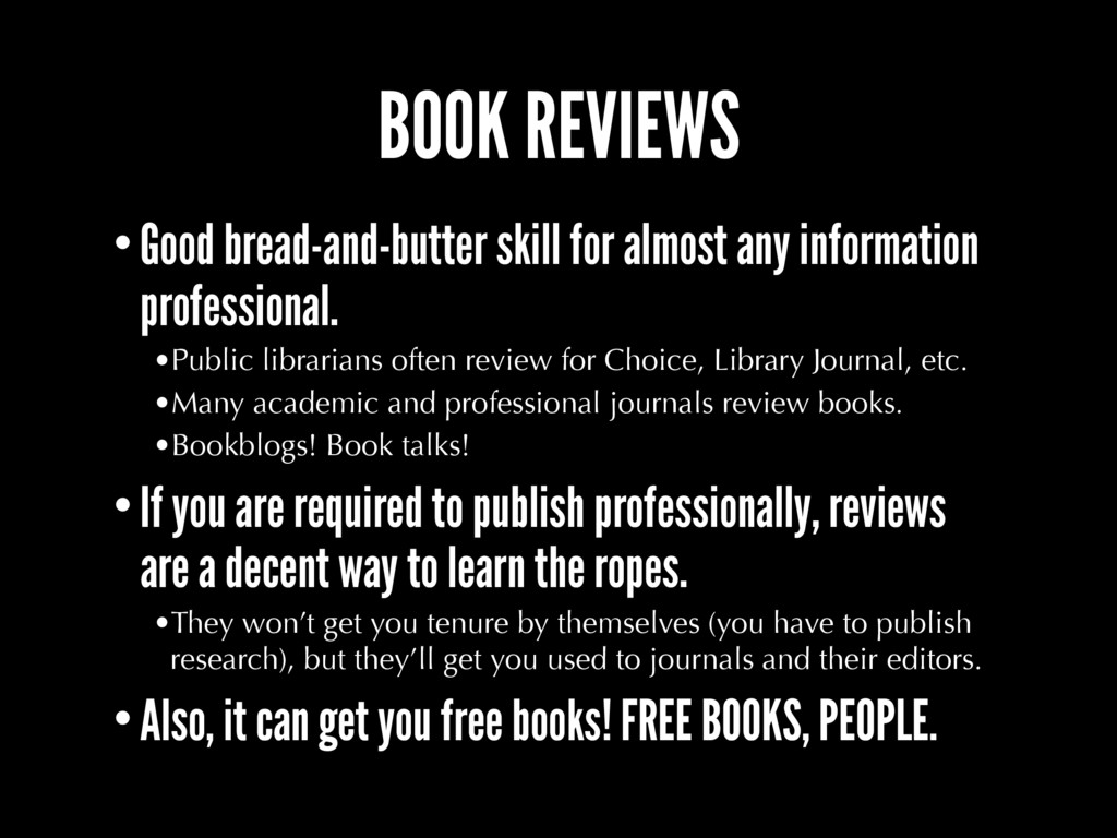 BOOK REVIEWS •Good bread-and-butter skill for a...