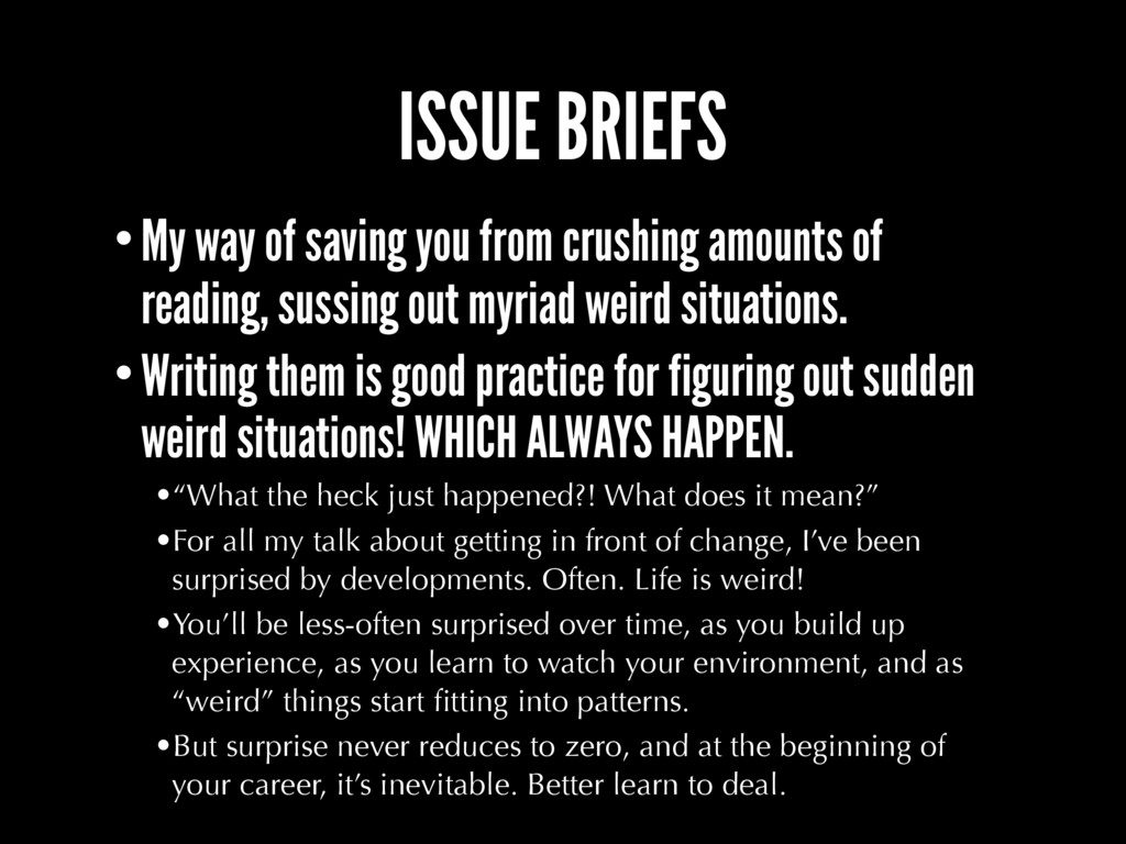 ISSUE BRIEFS •My way of saving you from crushin...