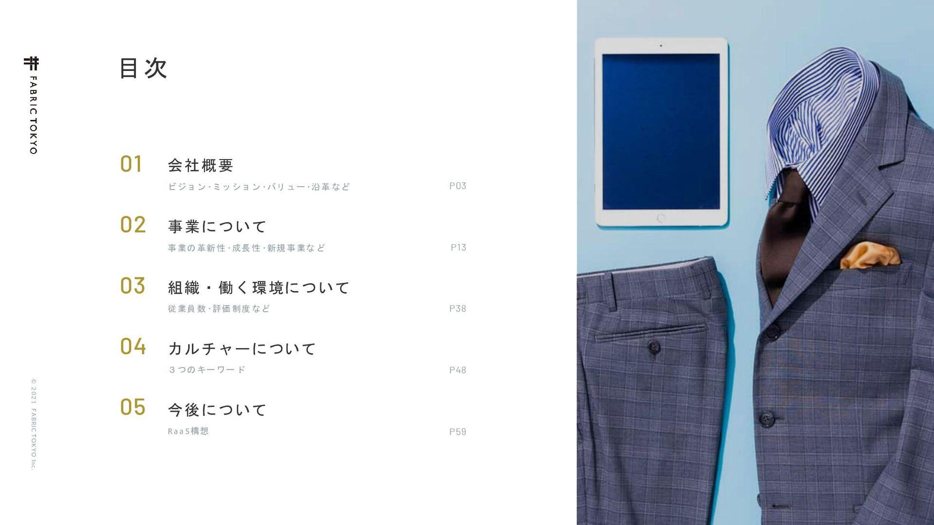 © 2021 FABRIC TOKYO Inc. 2  ձࣾ֓ཁ Ϗδϣϯŋϛογϣϯŋό...