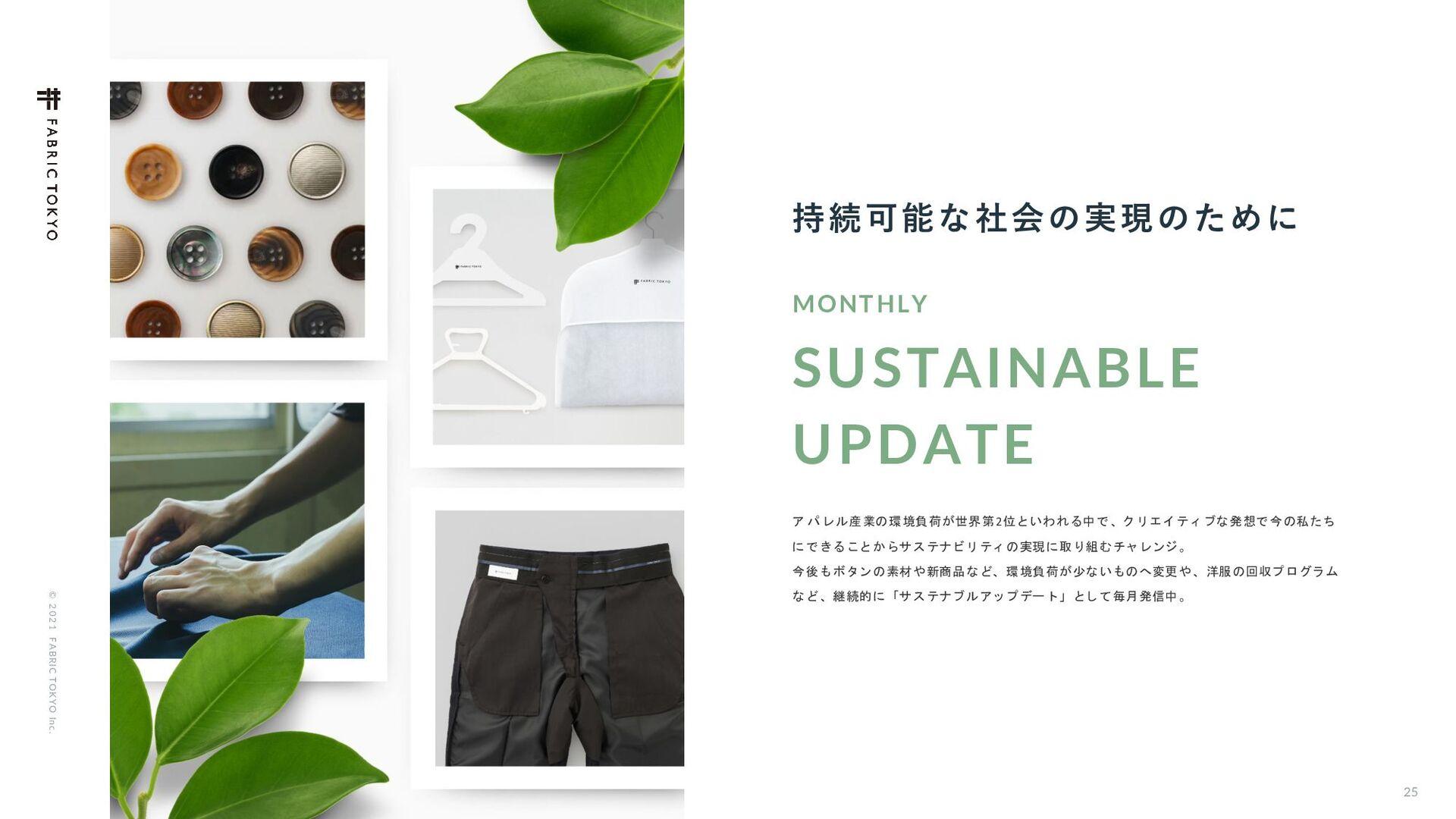 25 © 2021 FABRIC TOKYO Inc. ࢦ͢ͷɺาઌͷશ͘৽͍͠ߪೖମݧ...