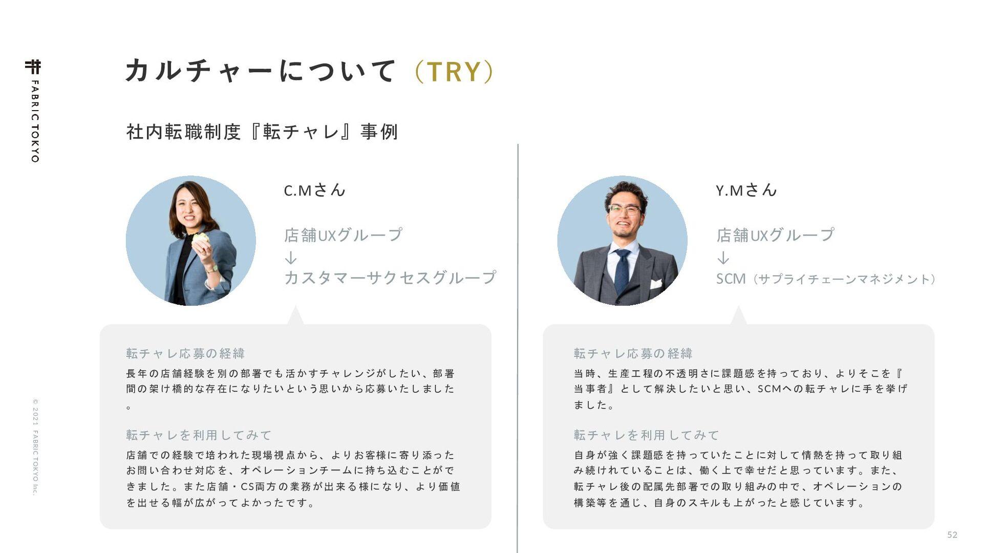 © 2021 FABRIC TOKYO Inc. 50 αϒεΫϦϓγϣϯ Ϧςʔϧϒϥϯυ ...