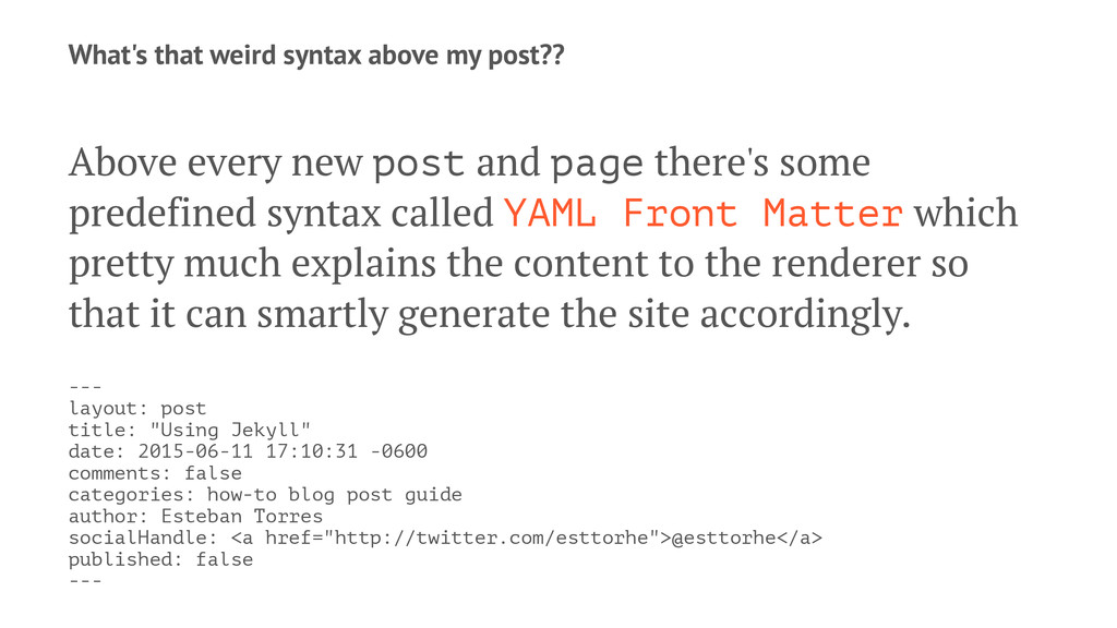 What's that weird syntax above my post?? Above ...