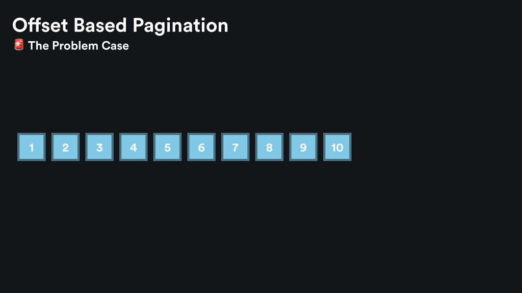 1 2 3 4 5 6 7 8 9 10 Offset Based Pagination  T...