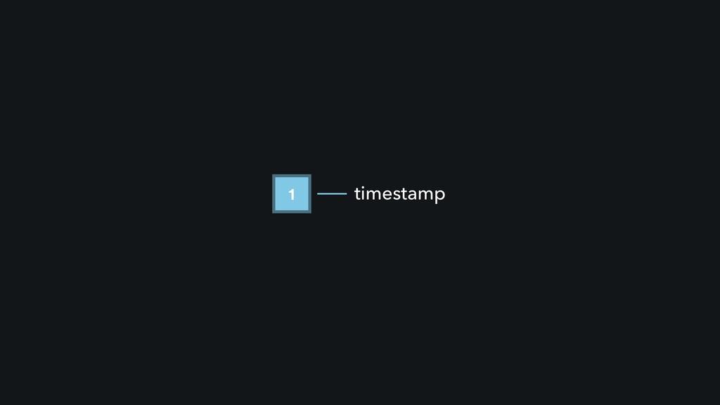 1 timestamp