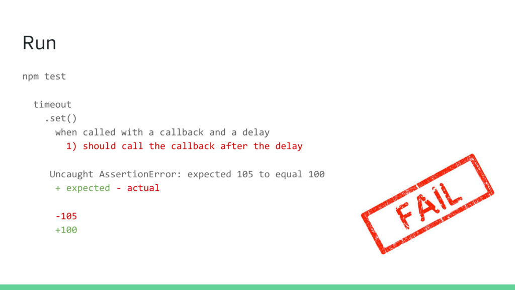 Run npm test timeout .set() when called with a ...