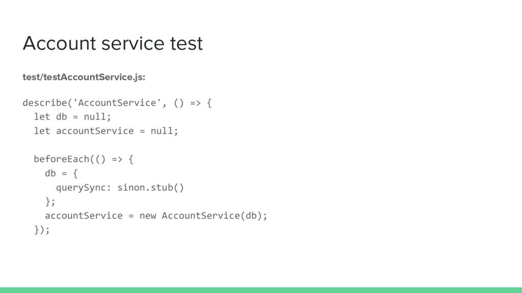 Account service test test/testAccountService.js...
