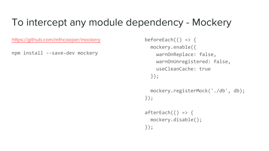 To intercept any module dependency - Mockery ht...