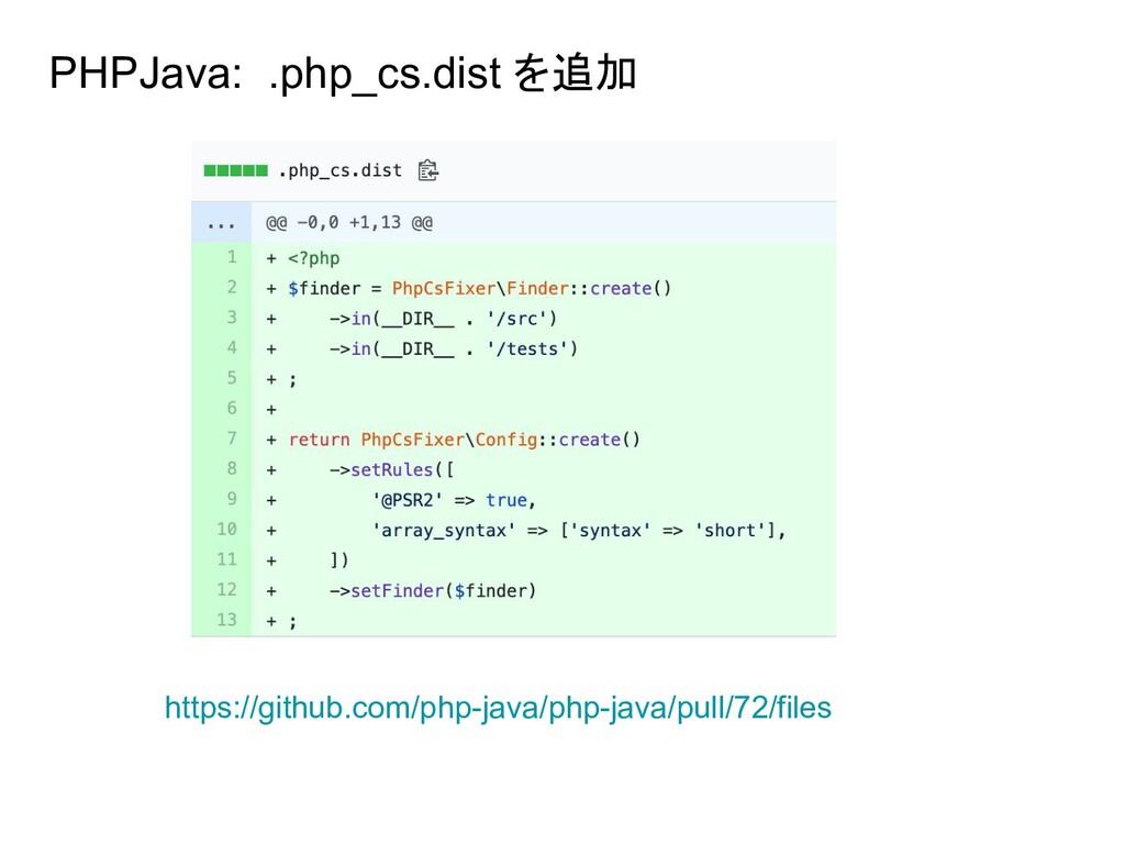 PHPJava: .php_cs.dist を追加 https://github.com/ph...