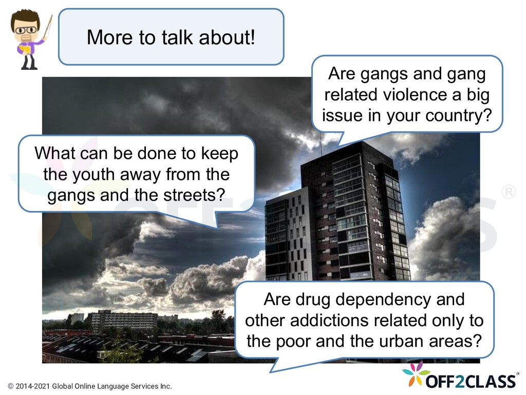 More to talk about! Are drug dependency and oth...
