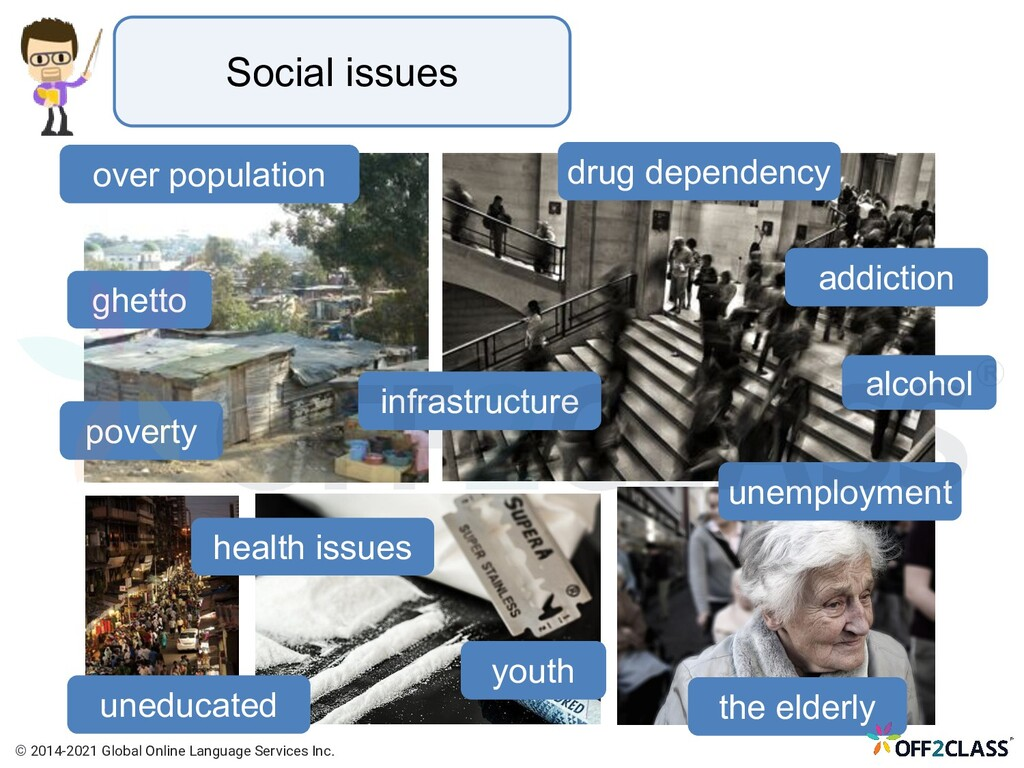 Social issues addiction poverty unemployment al...