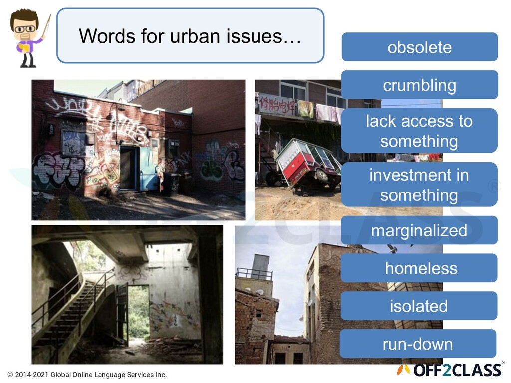 Words for urban issues… lack access to somethin...