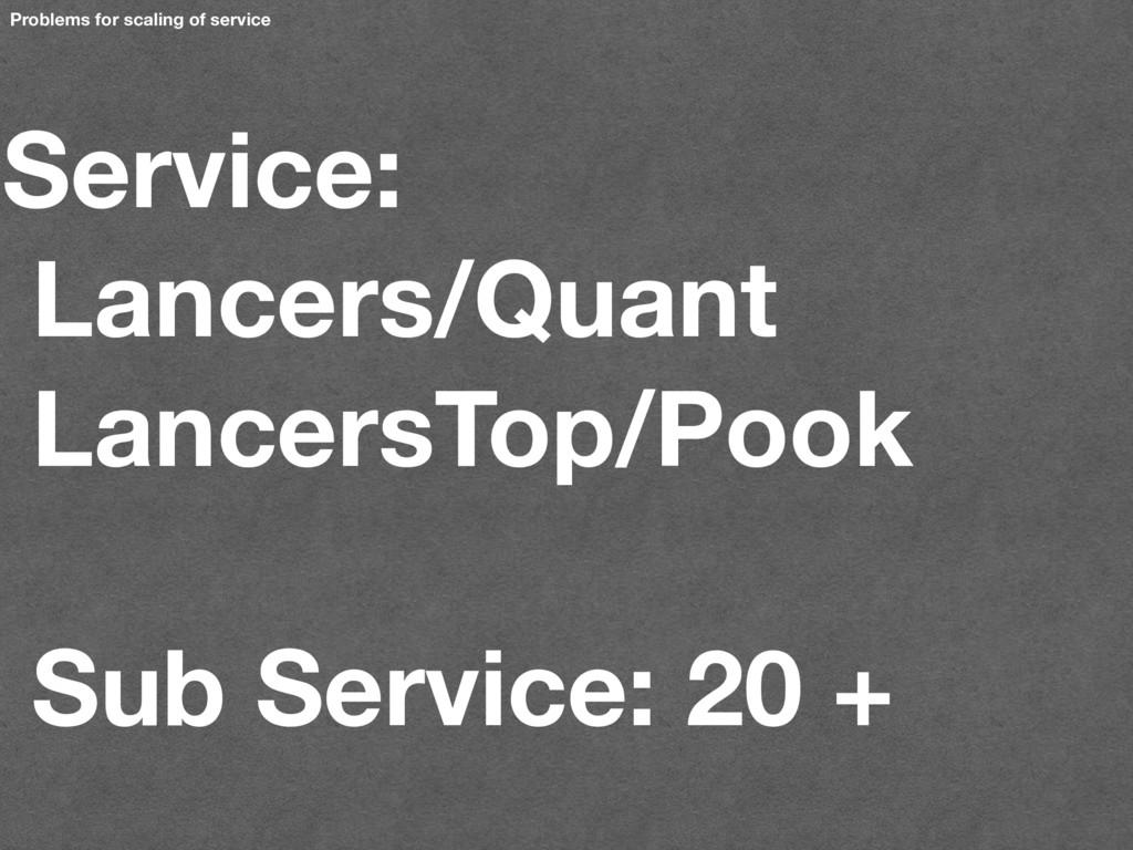 Service: Lancers/Quant LancersTop/Pook Sub Serv...
