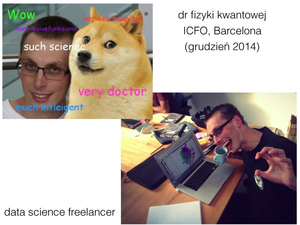 dr fizyki kwantowej data science freelancer ICFO...