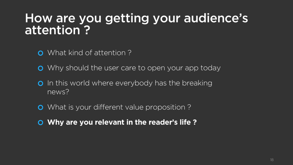 What kind of attention ? Why should the user ca...