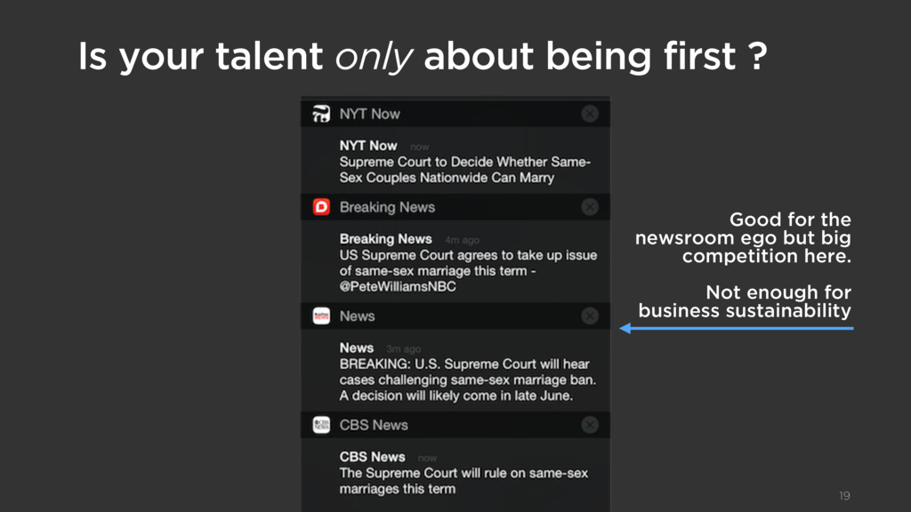 Is your talent only about being first ? 19 Good...
