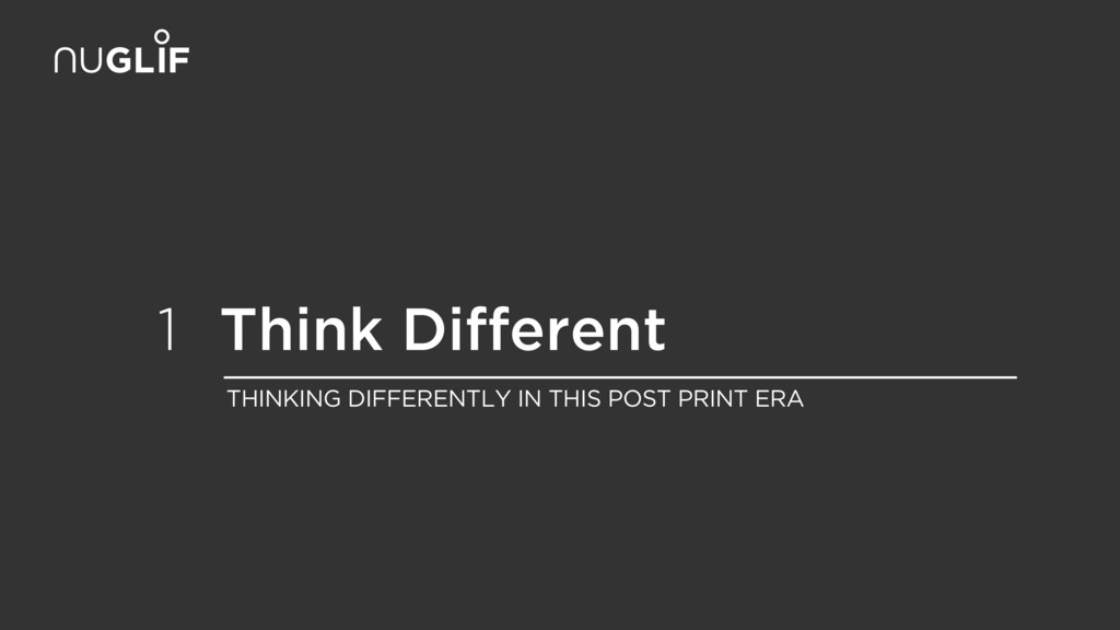 Think Different 1 THINKING DIFFERENTLY IN THIS ...