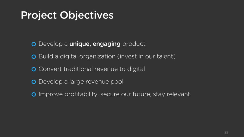 Develop a unique, engaging product Build a digi...