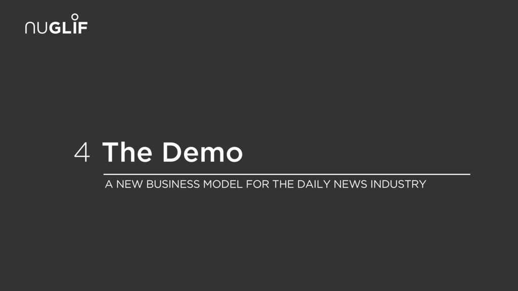 The Demo 4 A NEW BUSINESS MODEL FOR THE DAILY N...