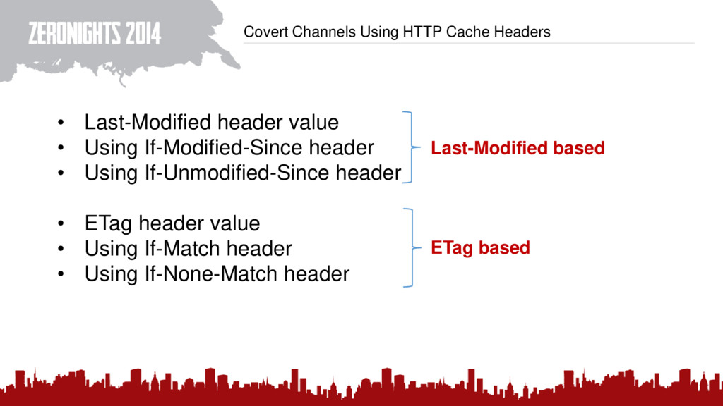 Covert Channels Using HTTP Cache Headers • Last...