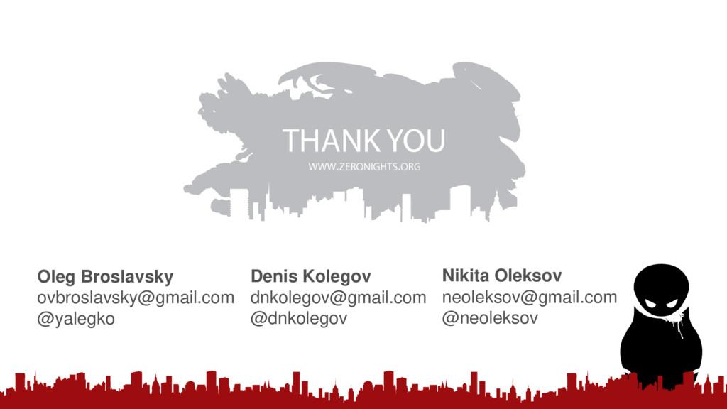 Oleg Broslavsky ovbroslavsky@gmail.com @yalegko...
