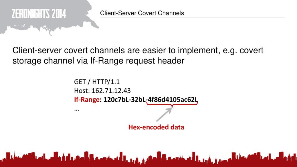 Client-Server Covert Channels Client-server cov...
