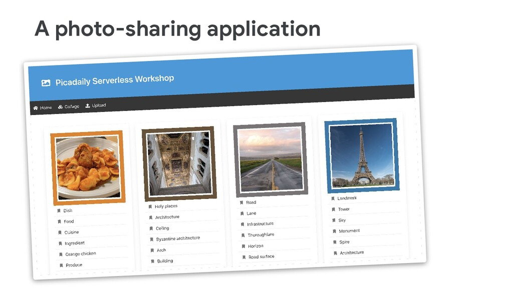A photo-sharing application
