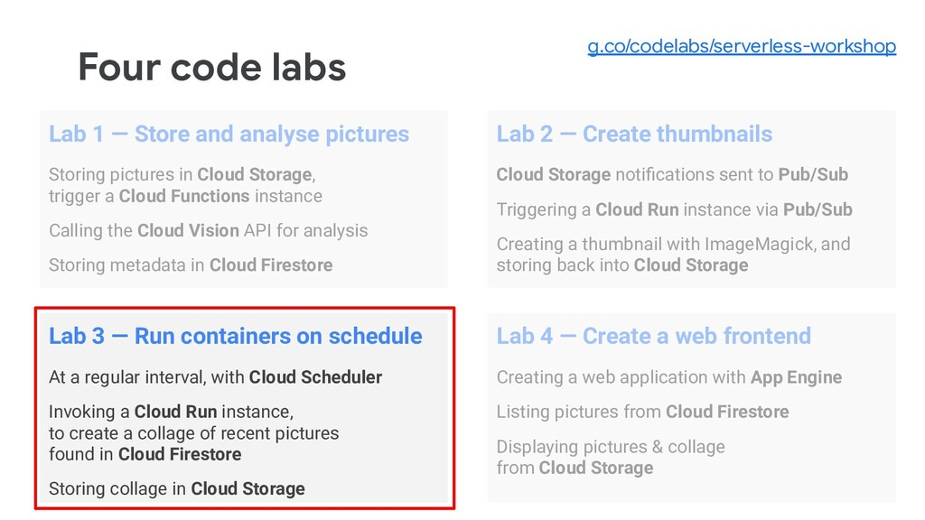 Four code labs Lab 1 — Store and analyse pictur...
