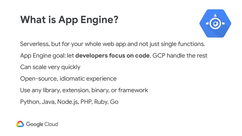 What is App Engine? Serverless, but for your wh...