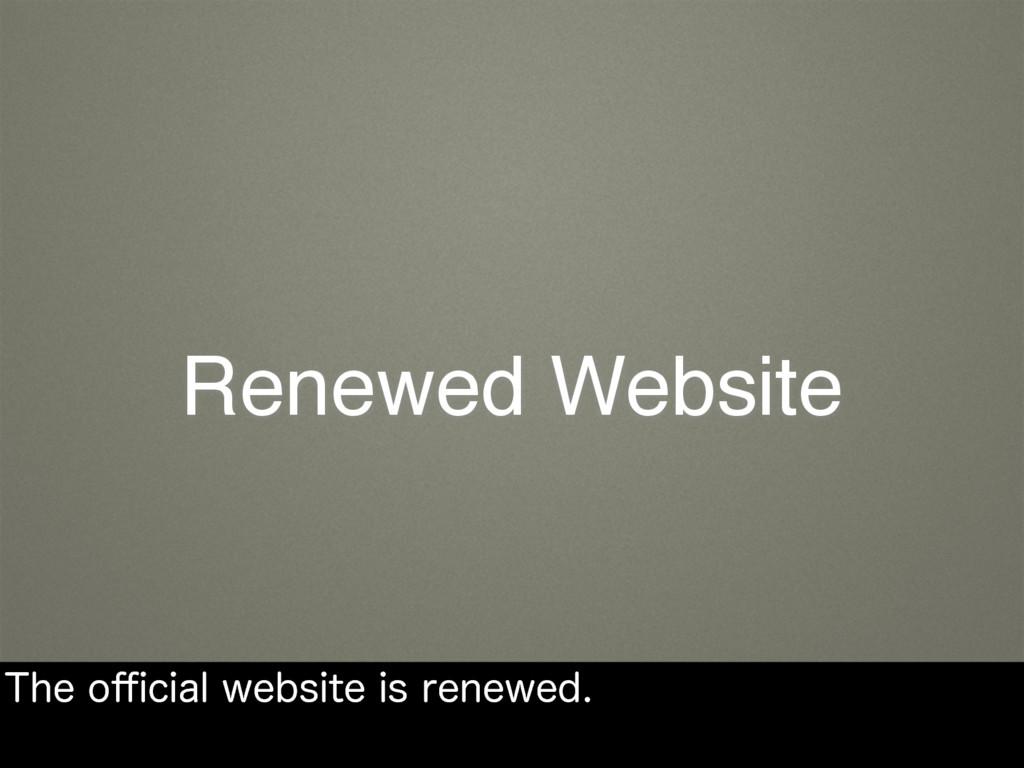 Renewed Website 5IFP⒏DJBMXFCTJUFJTSFOFXFE