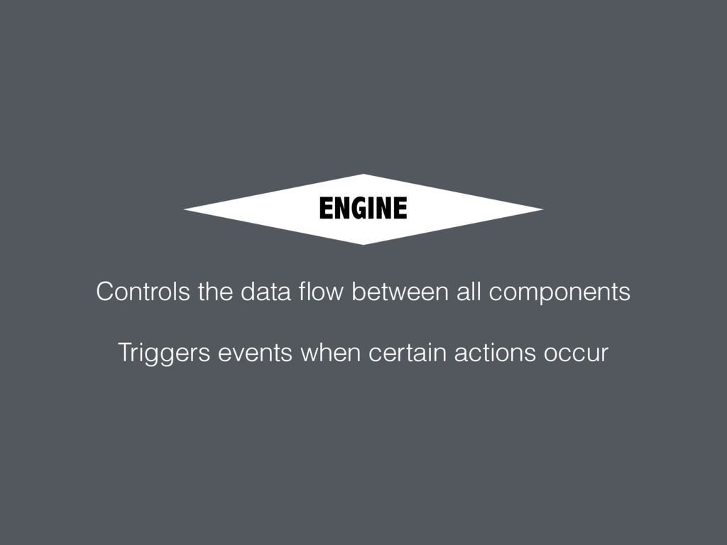 ENGINE Controls the data flow between all compon...