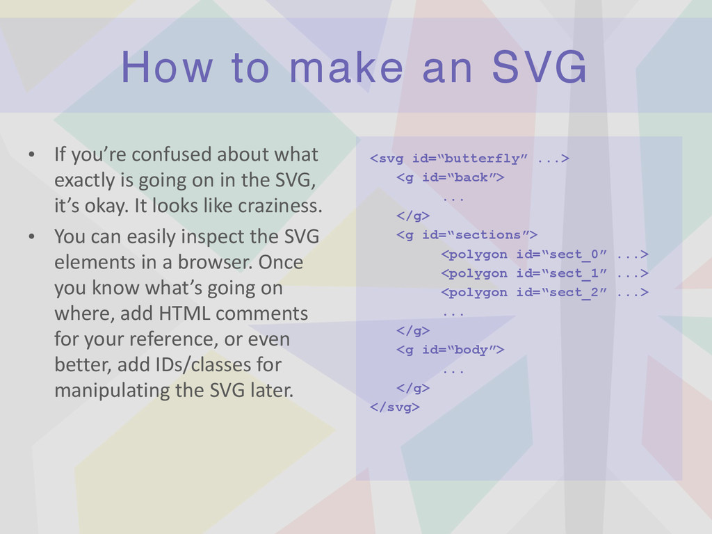 How to make an SVG • If	