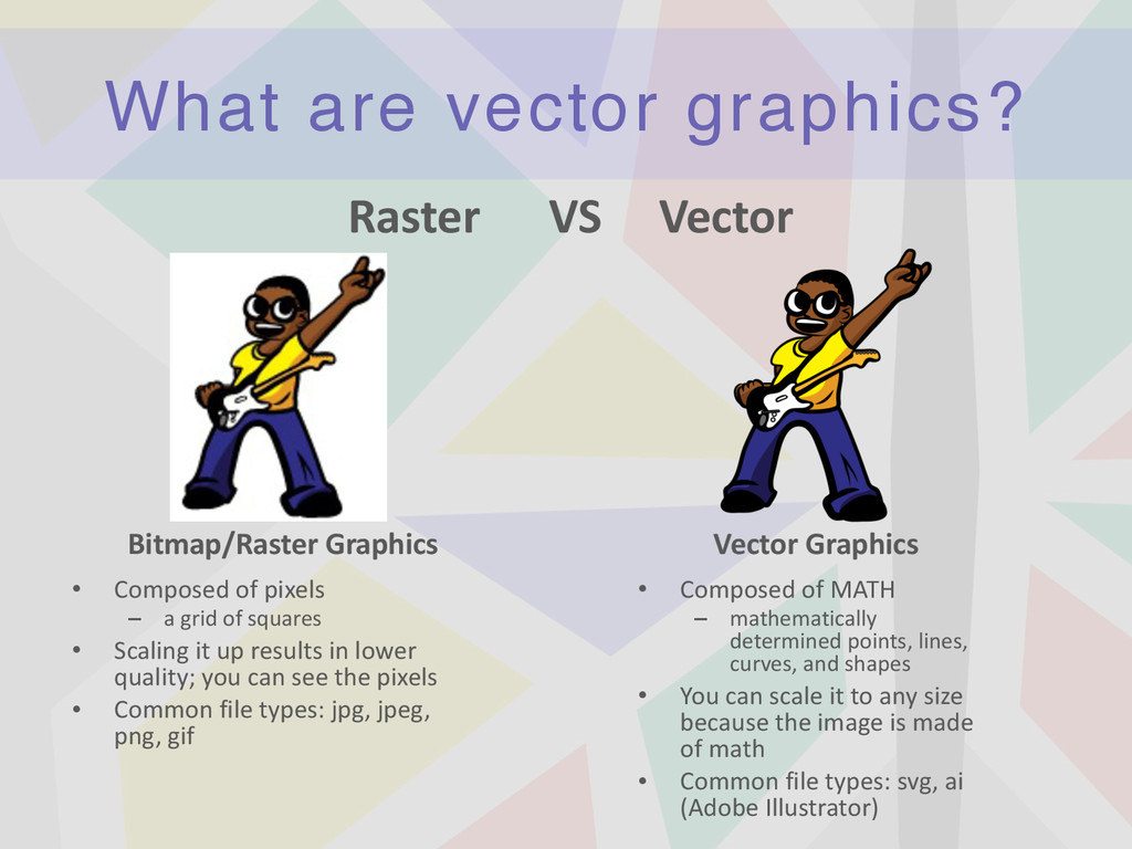 What are vector graphics? • Composed	