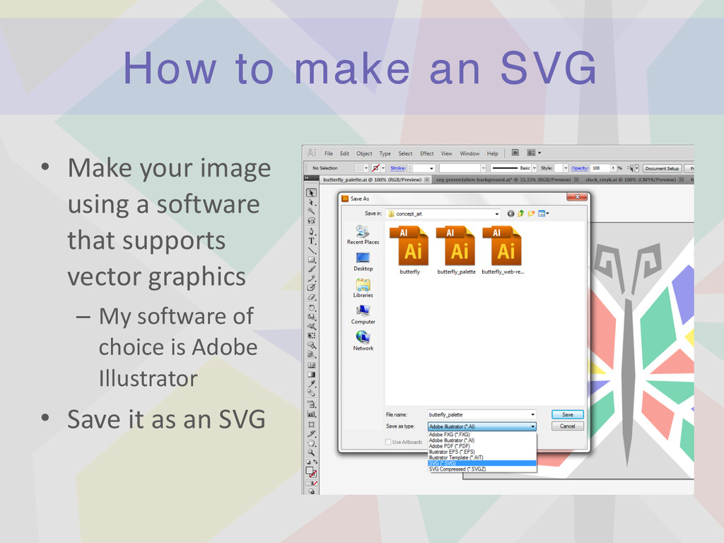 How to make an SVG • Make	