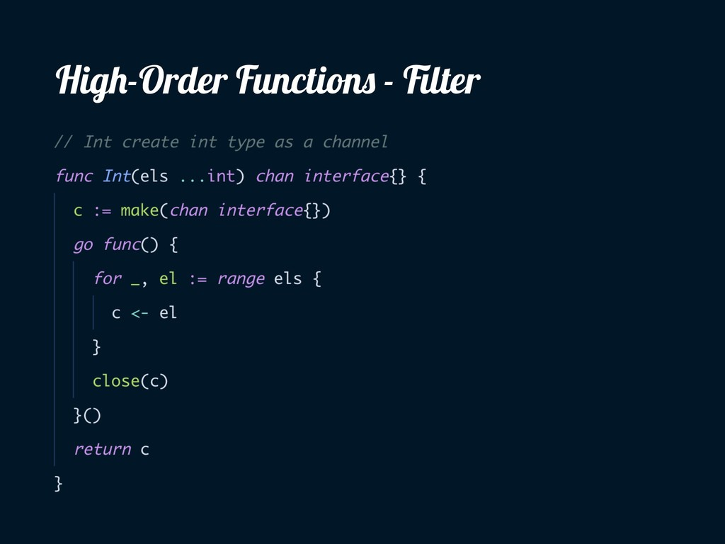 High-Order Functions - Filter