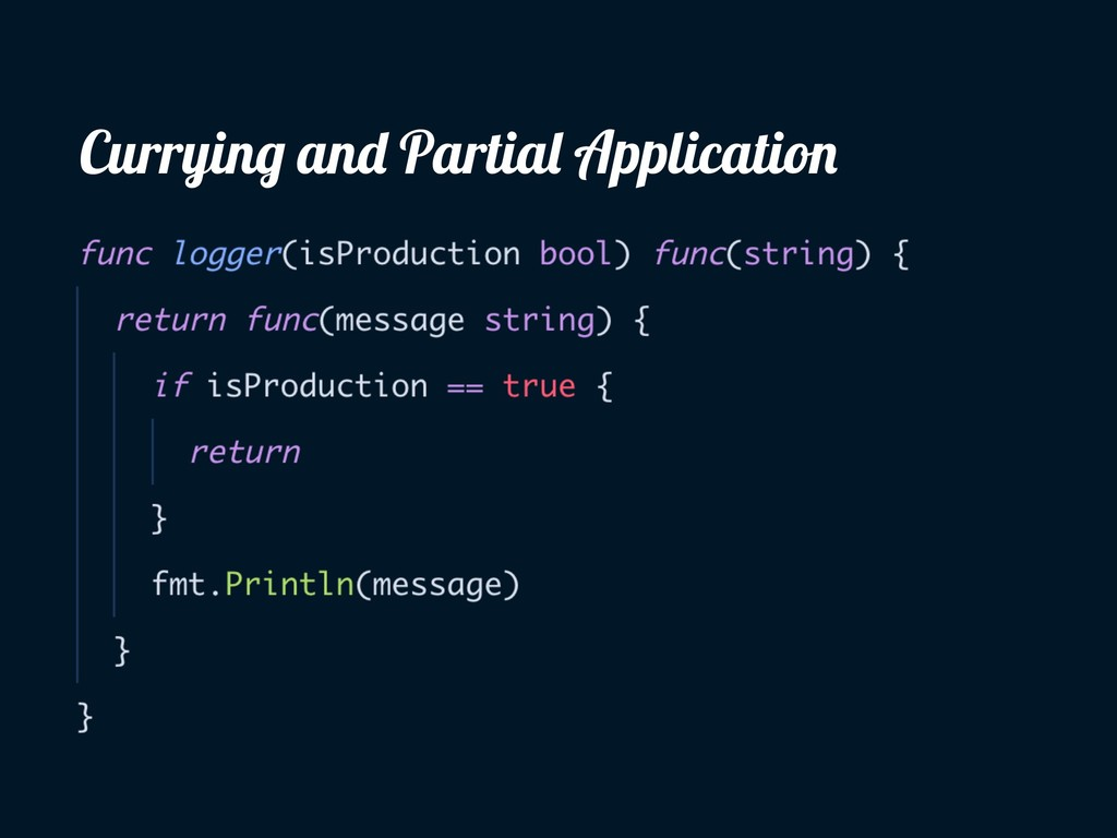 Currying and Partial Application