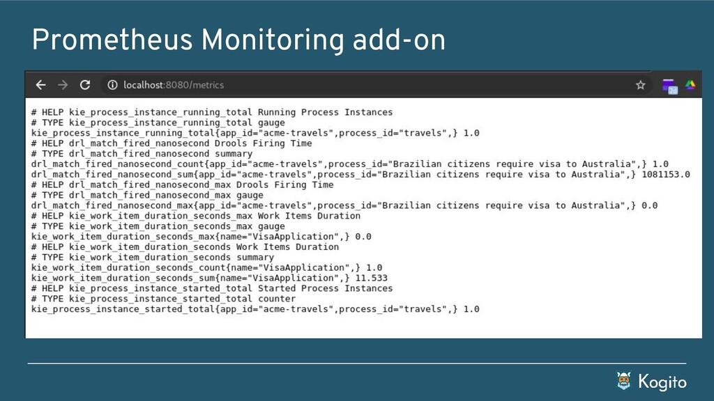 Prometheus Monitoring add-on