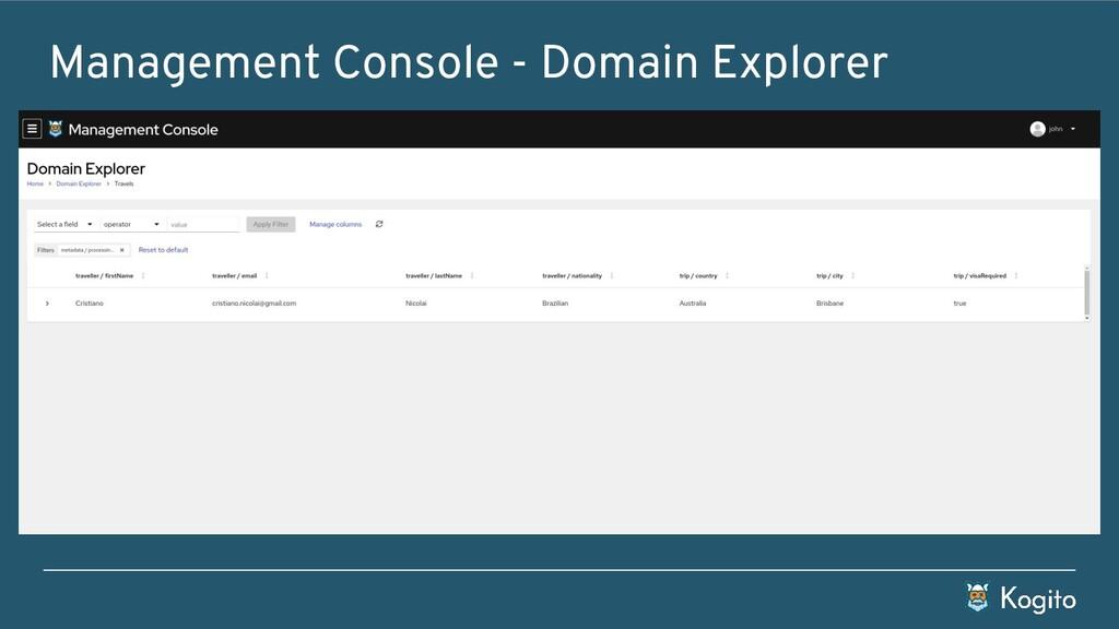 Management Console - Domain Explorer